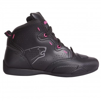 Baskets Moto Bering Lady Jasper Waterproof Black Fushia