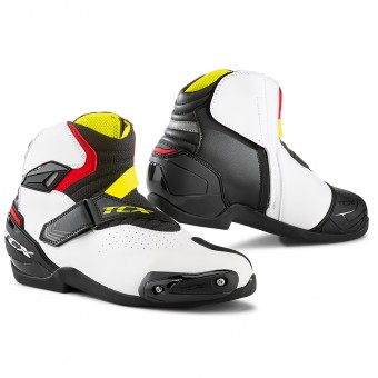 Baskets Moto TCX Roadster 2 Air Noir Blanc Rouge