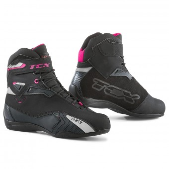 Baskets Moto TCX Rush Lady Waterproof Noir Fuschia