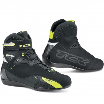 Baskets Moto TCX Rush Waterproof Black Yellow