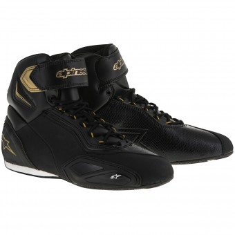 Baskets Moto Alpinestars Stella Faster 2 Black Gold