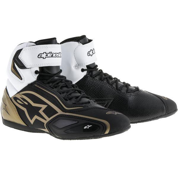 Baskets Moto Alpinestars Stella Faster 2 Black White Gold