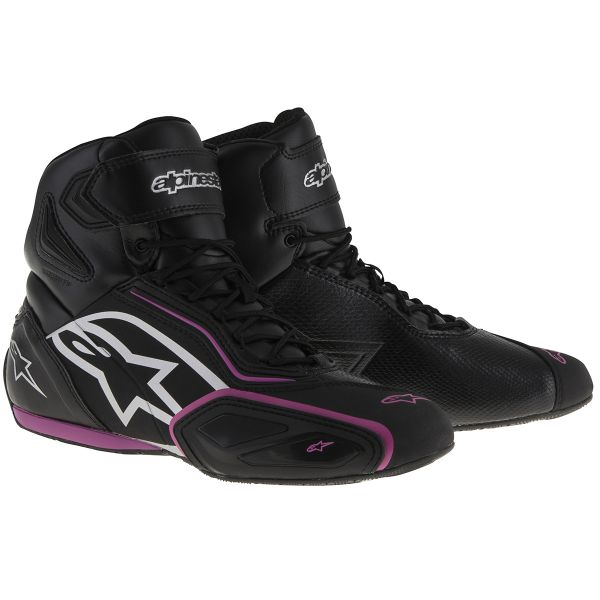 Baskets Moto Alpinestars Stella Faster 2 Waterproof Black Fuschsia