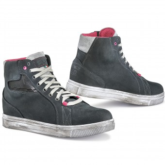 Baskets Moto TCX Street Ace Lady Waterproof Dark Grey
