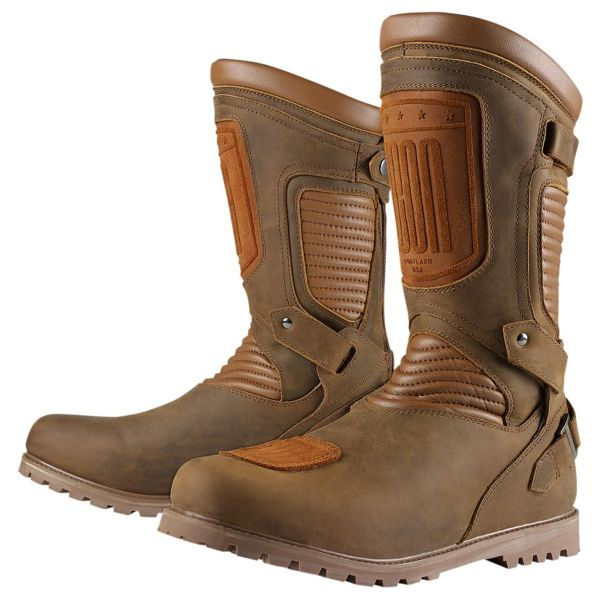 Bottes Moto ICON 1000 Prep Waterproof Brown