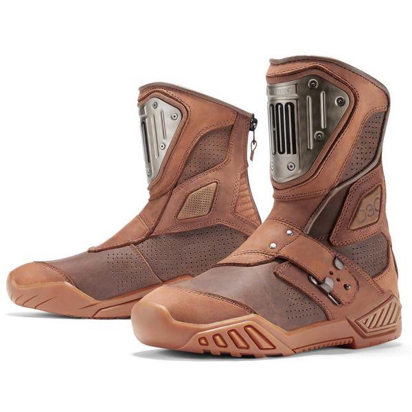 Bottes Moto ICON 1000 Retrograde Brown Boots