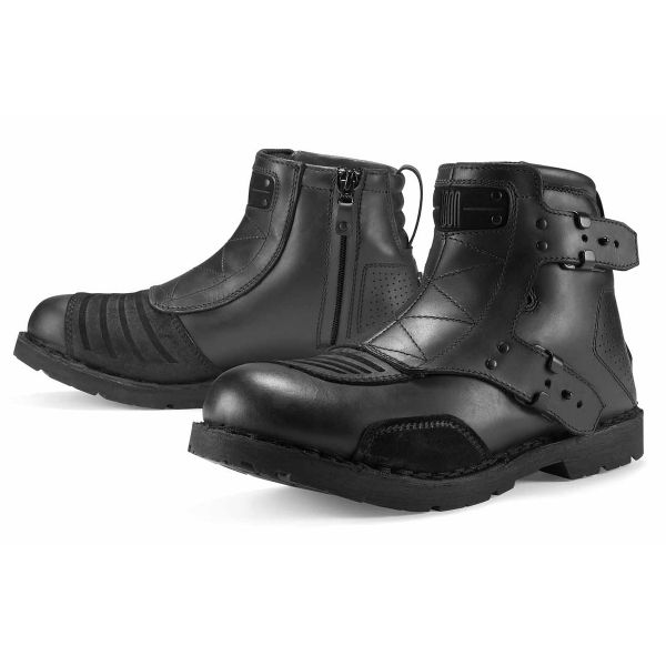 Bottes Moto ICON El Bajo Johnny Black