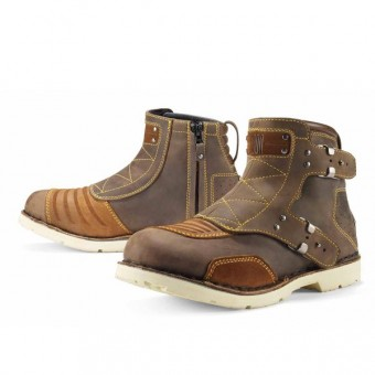 Bottes Moto ICON El Bajo Oiled Brown
