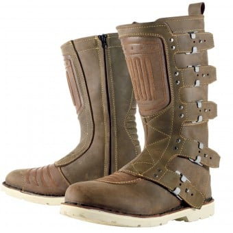 Bottes Moto ICON Elsinore Oiled Brown
