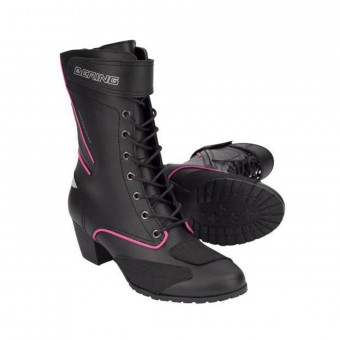 Bottes Moto Bering Lady Morgane Black Fuchsia
