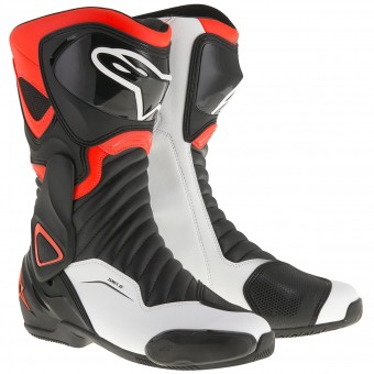 Bottes Moto Alpinestars SMX-6 V2 Black Red Fluo White