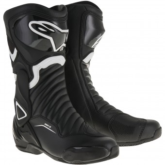 Bottes Moto Alpinestars SMX-6 V2 Black White