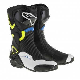 Bottes Moto Alpinestars SMX-6 V2 Black Yellow Fluo Blue