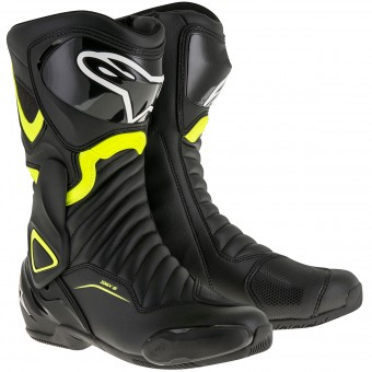 Bottes Moto Alpinestars SMX-6 V2 Black Yellow Fluo