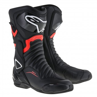Bottes Moto Alpinestars SMX-6 V2 Drystar Black Red Fluo