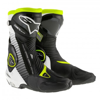 Bottes Moto Alpinestars SMX Plus Black Red Fluo White Yellow Fluo