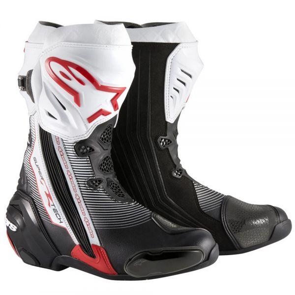 Bottes Moto Alpinestars Supertech R Black Red White