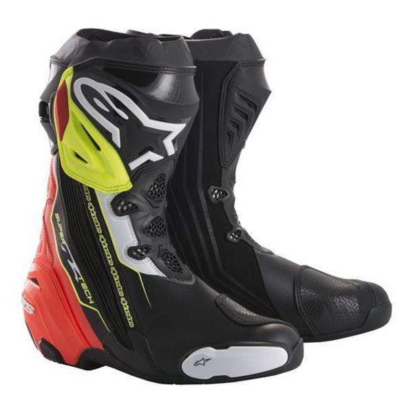 Bottes Moto Alpinestars Supertech R Black Red Yellow Fluo