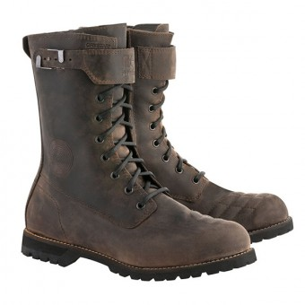 Bottes Moto Alpinestars Firm Drystar Dark Brown Oiled