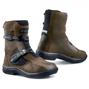 Bottes Moto TCX Baja Mid Waterproof Vintage Marron