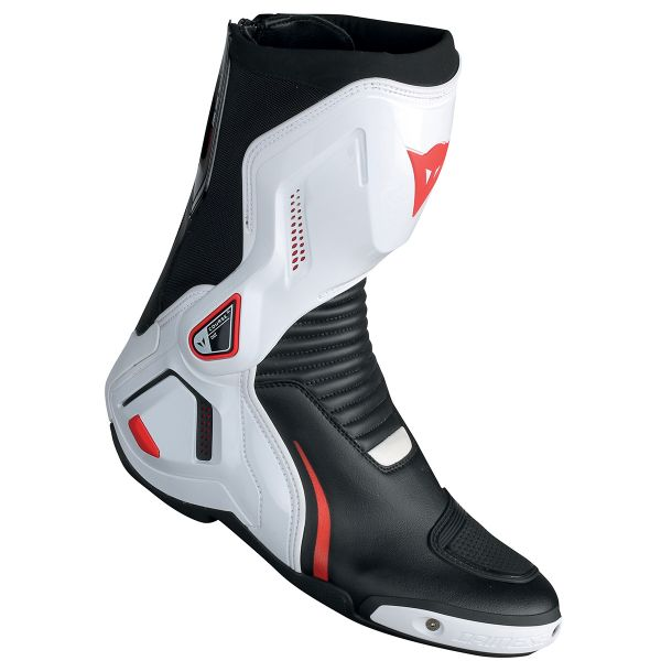 Bottes Moto Dainese Course D1 Out Black White Lava Red