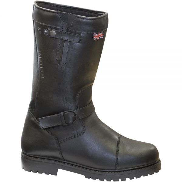 bottes moto merlin keele black boots en stock. Black Bedroom Furniture Sets. Home Design Ideas