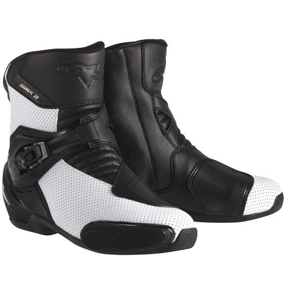 6afeed3f7ef44 Demi-bottes moto Alpinestars S-MX 3 Black White Vented cherche ...