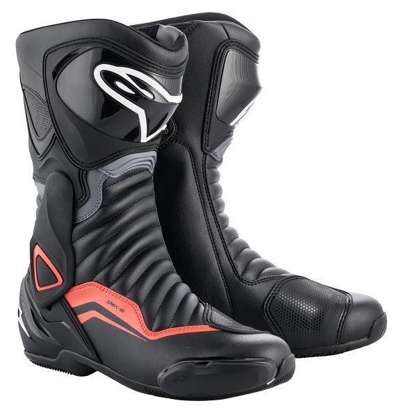 Bottes Moto Alpinestars SMX-6 V2 Black Grey Red Fluo
