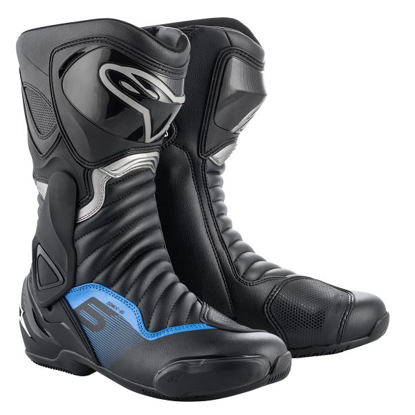 Bottes Moto Alpinestars SMX-6 V2 Black Gun Metal Blue