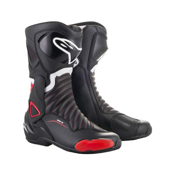 Bottes Moto Alpinestars SMX-6 V2 Noir Rouge
