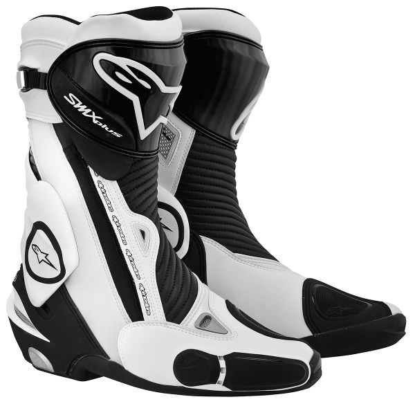 bottes moto alpinestars smx plus black white en stock. Black Bedroom Furniture Sets. Home Design Ideas