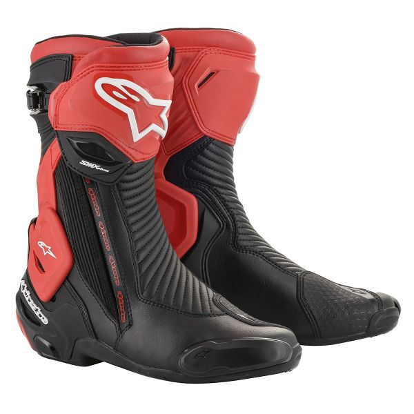 Bottes Moto Alpinestars SMX Plus V2 Black Red