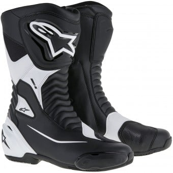 Bottes Moto Alpinestars SMX S Black White