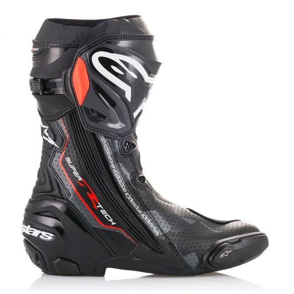 Bottes moto Alpinestars Supertech R Black Au Meilleur Prix