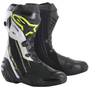Bottes Moto Alpinestars Supertech R Black Yellow Fluo White