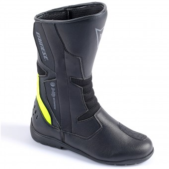 Bottes Moto Dainese Tempest Lady D-Waterproof Black Yellow Fluo