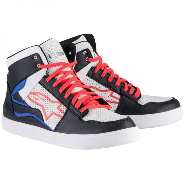 Baskets Moto Alpinestars Stadium Black White Red Blue