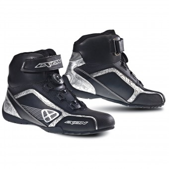 Baskets Moto Ixon Assault Lady Noir Argent