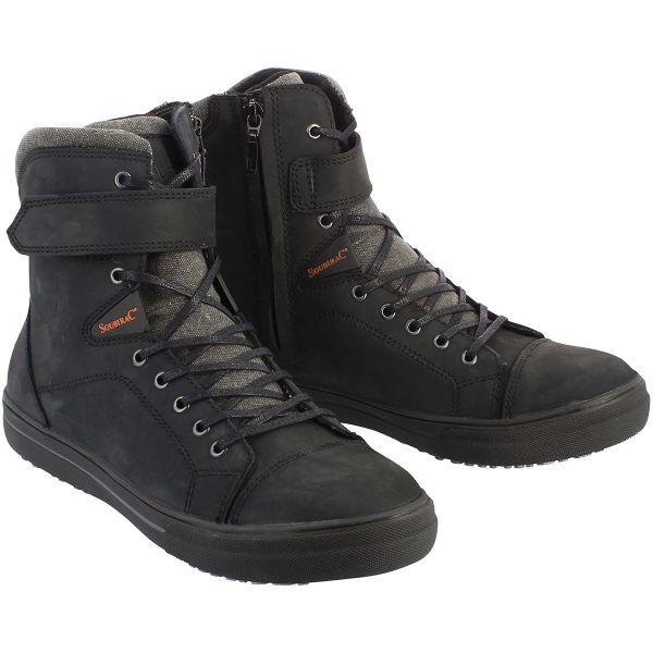 Chaussures Moto Soubirac Atomic Waterproof Black CE