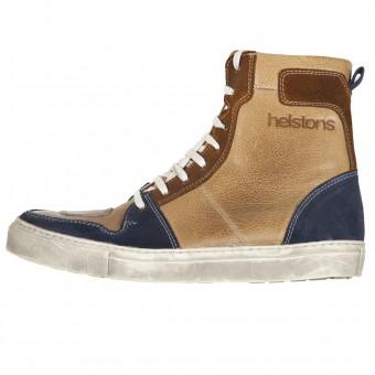 Chaussures Moto Helstons C2 Leather Waterproof Beige