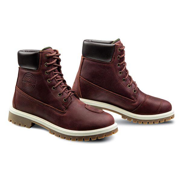 Chaussures Moto Ixon Mud WP Lady Burgundy