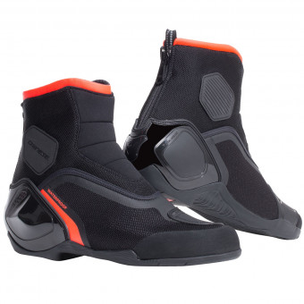 Chaussures Moto Dainese Dinamica D-WP Black Fluo Red
