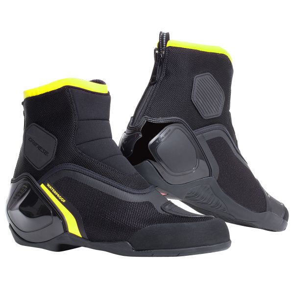 Chaussures Moto Dainese Dinamica D-WP Black Fluo Yellow