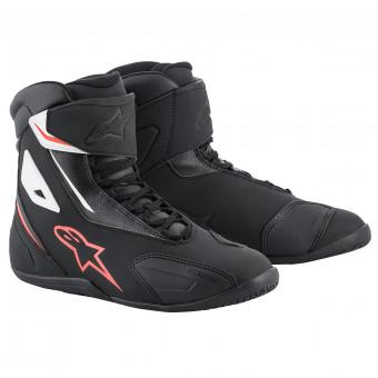 Chaussures Moto Alpinestars Fastback 2 Black White Red Fluo