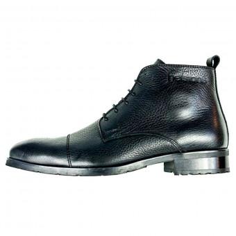 Chaussures Moto Helstons Heritage Cuir CE Noir
