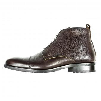 Chaussures Moto Helstons Heritage Cuir Marron