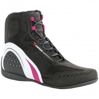 Chaussures Moto Dainese Motorshoe Air Lady Black White Fuschia