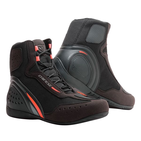 Chaussures Moto Dainese Motorshoe D1 D-WP Black Fluo Red Anthracite