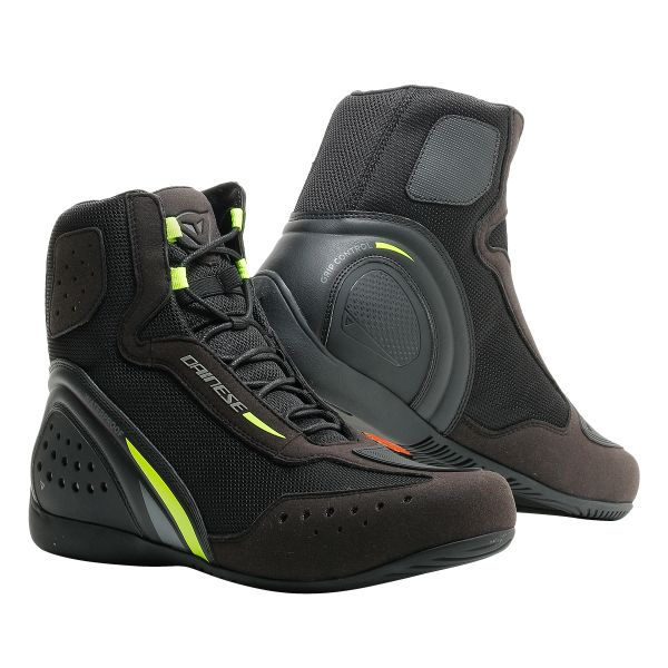 Chaussures Moto Dainese Motorshoe D1 D-WP Black Fluo Yellow Anthracite