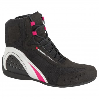 Chaussures Moto Dainese Motorshoe Lady D-WP Black White Fuschia